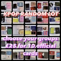 Personalised Kpop Random LOT 10 Official Photocards Choose Bts Nct Blackpink Sf9