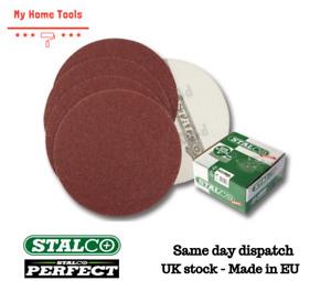 10 x 100 GRIT Sanding Discs Pads Sheets Sander Sandpaper Wet and Dry Stalco