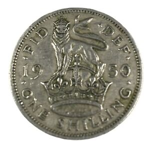 GB 1945 King George Vl English One Shilling Coin