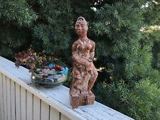 Indian Folk Art Wooden Carved Doll Figurine