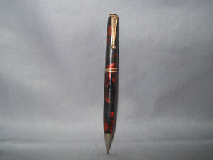 Parker Vintage Red Marble Deluxe Challenger Pencil-working