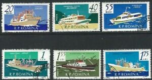 Romania 1961, Merchant Navy Ships VFU (CTO)