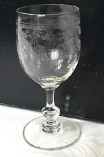 lot 5 verres à vin SAINT-LOUIS XIXème - Cristal Gravé Fleuri Aster