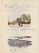 France, Bordeaux, vue générale et de vent la gare  Vintage silver print, snapsho