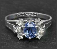 2,50ct Diamant Brillant & Saphir Cocktail Damen Ring, Antik um 1925, 585 Gold