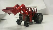 1/64 ERTL custom agco massey Ferguson 1155 tractor with massey loader farm toy