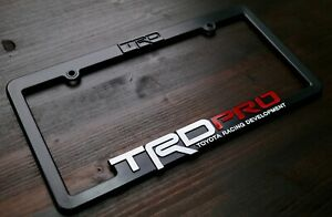 TRD-PRO-License-Plate-Frame-Toyota-Racing-Developmet-Tacoma-Tundra-4runner-4x4