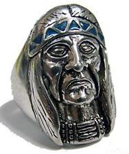 Quality INDIAN CHEIF W HEADBAND BIKER RING 88R mens fashion jewelry new silver