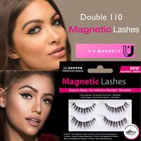 Magnetic Lashes - Double 110 - False/Fake Eyelashes Wispies - No Glue Needed