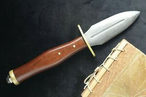 McAllister Forge - Damascus Steel Letter Opener Rosewood Handle Brass fittings
