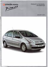Citroen Xsara Picasso Specification 2004-05 UK Market Brochure