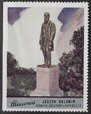 Usa Cinderella stamp: See Missouri: Joseph Baldwin, Pioneer Educator - dw763
