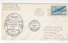 1946 Washington DC FAM 27, Airmail FFC Cacheted TWA to Switzerland