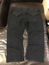 True Religion Mens Ricky Black Relaxed Straight Big T Jeans Size W44 L30