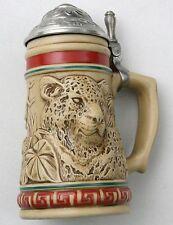 Vintage Avon Beer Stein Jaguar Jungle Cat Panther Tiger Bar Lion Bottle Amazon