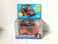 """vintage OFF ROAD JEEP ROLO BATTERY OPERATED #33 FIRE CHIEF DESCO TOYS 1970S 7"""""""