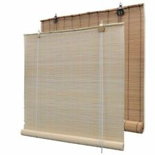 vidaXl Roller Blind Bamboo Blackout Sunshade Screen Brown/Natural Multi Sizes