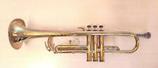 E7-3 Trompete Corton Vintage Messing, L 54cm, Schalbecher eingestellt