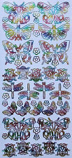 Multi coloured Insects LADYBIRDS Dragonflies  PEEL OFF STICKERS Butterflies
