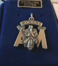 Sterling Silver 21mm Texas A&M University Corps of Cadets Stack Aggie ATM Charm