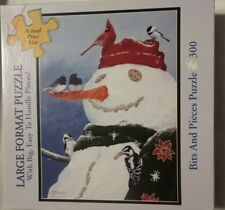 BITS AND PIECES SNOWMAN'S TREAT  LARGE FORMAT  PUZZLE  300 PIECES