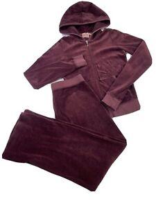 Vintage Juicy Couture Velour Tracksuit 2 Pc Set Women's Size Petite