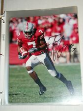 Ohio State OSU TED GINN JR. #7 Signed 8x10 Photo Arizona A2