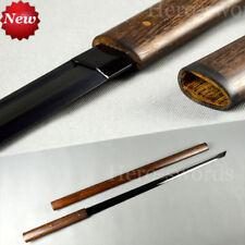 Handmade Black Kirihadukuri Blade Ninja Katana Japanese Samurai Shirasaya Sword