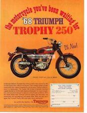 1968 Triumph Trophy 250 Motorcycle Vtg Print Ad