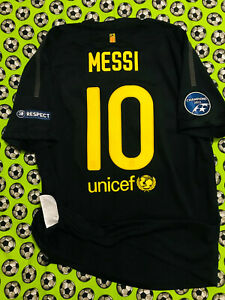 Nike FC Barcelona Away Soccer Football Jersey 2011 2012 Lionel Messi Champions