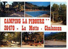 """CP 26 DRÔME - La Motte-Chalançon - Camping """"La Piboure"""" - Multivues couleurs"""