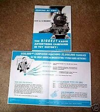 Gilbert Train Advertising Radio Flyer D1775 Reprint