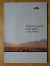 FORD Engines brochure prospekt folder- c1987 - Dutch