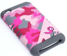 iPod Touch 4th Gen -HARD&SOFT RUBBER HIGH IMPACT CASE CAMO PINK GREY ARMY ANCHOR