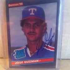 1986 Donruss Rated Rookie Jose Guzman Auto Signed Card