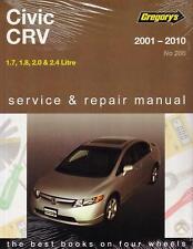 Gregorys Service & Repair Manual Honda Civic CRV 2001-2010 WORKSHOP NEW BOOK