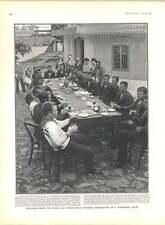 1905 Mutineers From Russian Battleship Potemkin Taking Breakfast Hotel