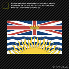 British Columbia Flag Sticker Decal Self Adhesive Vinyl Canada bc province