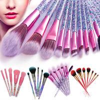 5/10Pc Rhinestone Glitter Makeup Brushes Foundation Blusher Gift Set Makeup Tool