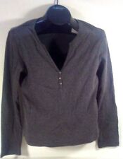 ALLISON BRITTNEY GRAY KNIT BLOUSE SIZE M
