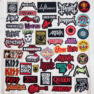 Music Punk Metal Rock Band Iron On Sew On Embroidered Patch Badge Applique Biker