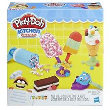 Play Doh Frozen Treat Play Set Kids Toddler Pretend Ice Cream Maker Cookie New