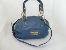 COACH 19296 KRISTIN USED BLUE LEATHER CONVERTIBLE SHOULDER BAG/DOMED SATCHEL