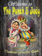 Punch and Judy bar sign pub retro mancave man gift fathers day free postage