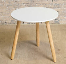 Wooden Folding Round Side & End Tables