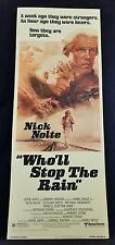 Original 1978 Who'll Stop the Rain Movie Poster 14 x 36 Nick Nolte