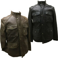 Coach 83394 Men's Lightweight Harrison Leather Field Jacket Cargo Pockets Coat