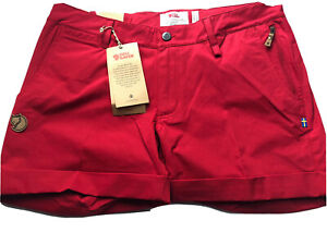 Fjall Raven Fjallraven shorts Women's Abisko Red Size 42  US 32-33 New With Tags