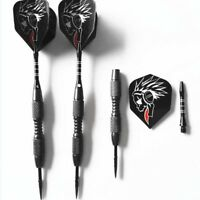 3pcs/Set Tungsten Steel Needle Tip Darts With Dart Flights Indoor Sports Black
