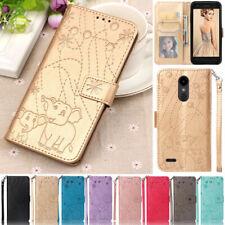 Elephant Wallet Leather Flip Stand Case Cover For LG G7/V40/Q Stylo 4/K8 2018